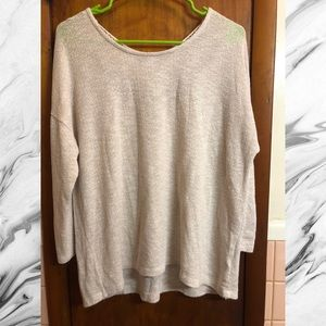 American Eagle Oatmeal Lightweight Sweater w/ Lace